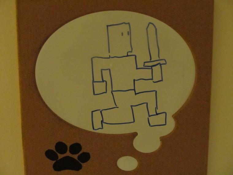 Adventure Dennis Whiteboard Sketch